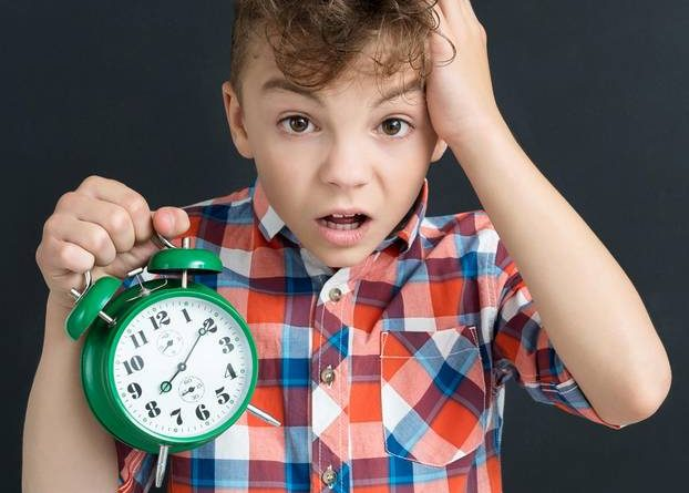 Children can no longer read the clock
